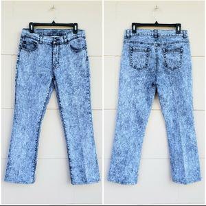 Vintage DG2 acid wash straight jeans